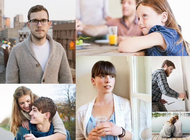 Menschen mit Morbus Crohn in Alltagssituationen
