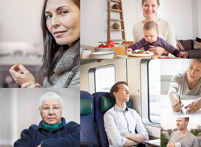 Menschen mit Psoriasis-Arthritis in Alltagssituationen