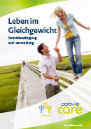 Titel der Broschüre Leben im Gleichgewicht - Stress und Psoriasis
