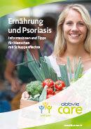Titel der Broschüre Ernährung und Psoriasis