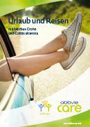 Titel der Broschüre Urlaub und Reisen mit Morbus Crohn und Colitis ulcerosa