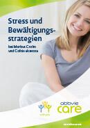Titel der Broschüre Stress und Bewältigungsstrategien bei Morbus Crohn und Colitis ulcerosa