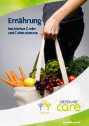 Titel der Broschüre Ernährung bei Morbus Crohn und Colitis ulcerosa