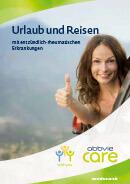 Titel der Broschüre Urlaub und Reisen mit entzündlich-rheumatischen Erkrankungen