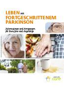 Titel der Broschüre Leben mit fortgeschrittenem Parkinson
