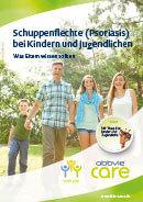 Titel der Broschüre Schuppenflechte (Psoriasis) bei Kindern und Jugendlichen - Was Eltern wissen sollten