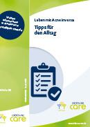Titel der Broschüre Leben mit Acne inversa - Tipps für den Alltag