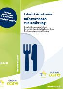 Titel der Broschüre Leben mit Acne inversa - Informationen zur Ernährung