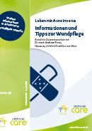 Titel der Broschüre Leben mit Acne inversa - Informationen und Tipps zur Wundpflege