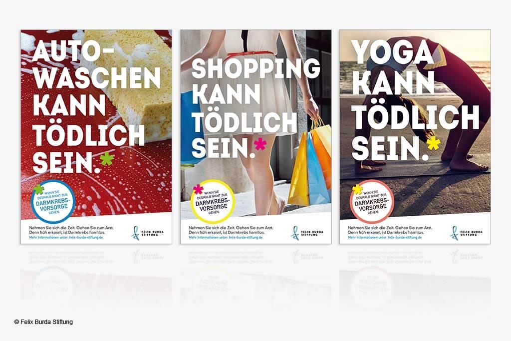 Poster einer Kampagne zur Darmkrebsvorsorge.