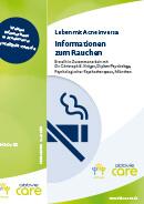 Titel der Broschüre Leben mit Acne inversa - Informationen zum Rauchen