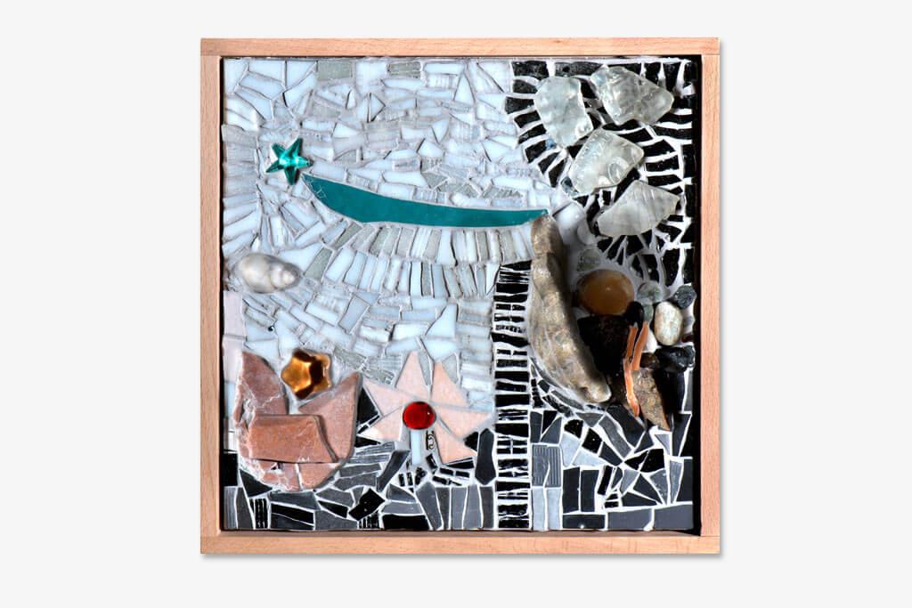 Kreatives Mosaikbild.