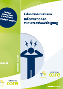 Titel der Broschüre Leben mit Acne inversa - Informationen zur Stressbewältigung