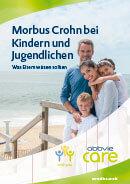 Titel der Broschüre Morbus Crohn bei Kindern und Jugendlichen