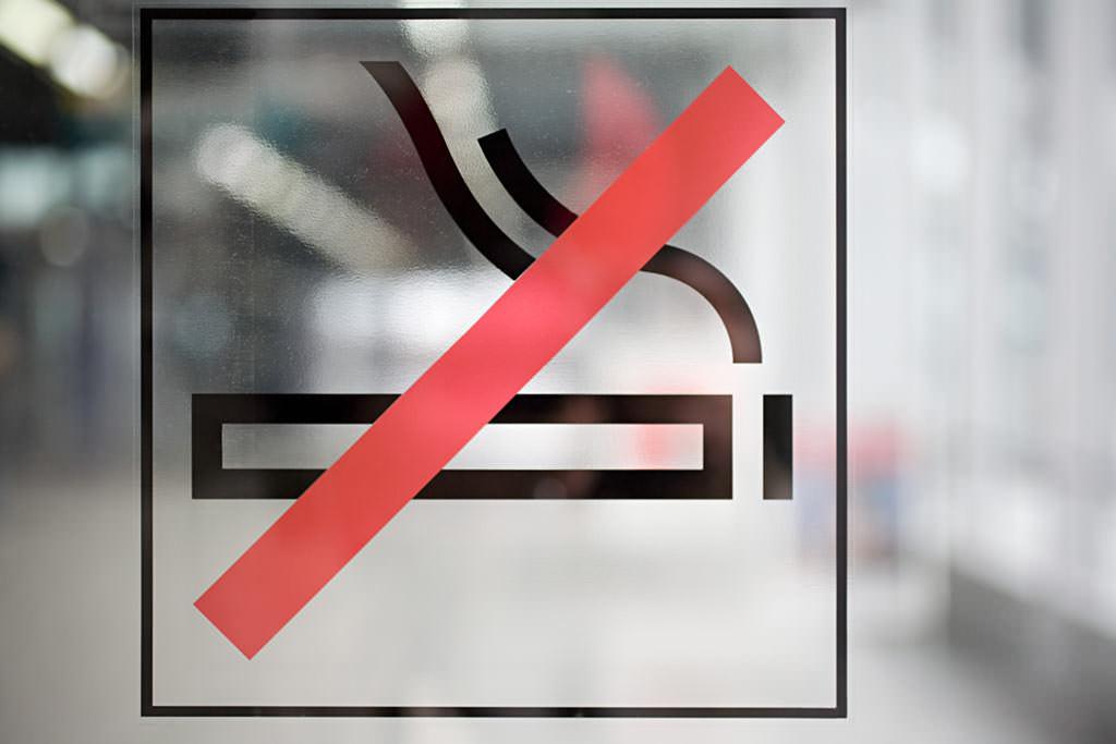 Zeichen für nicht rauchen.