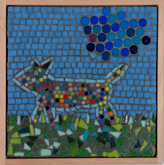 Kunstwerk mit dem Titel bunter Hund.