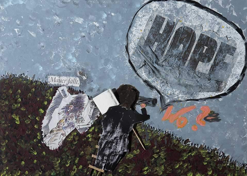 Kunstwerk mit dem Titel Ergeben Hoffnung.