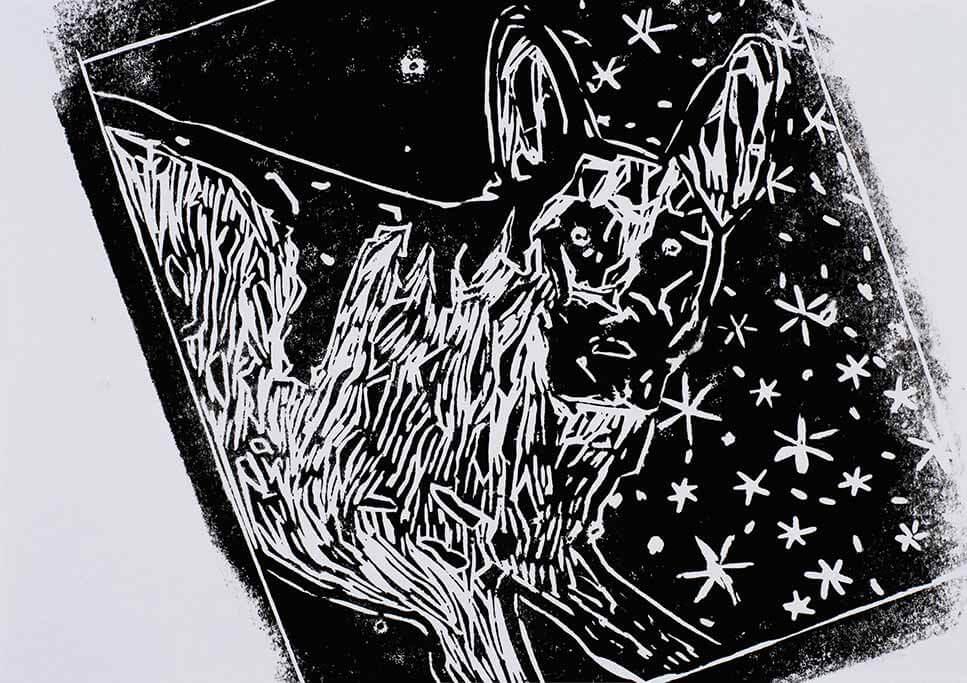 Kunstwerk mit dem Titel mein Hund.