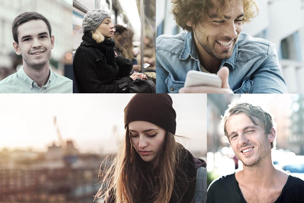 Collage mit verschiedenen Personen darauf.