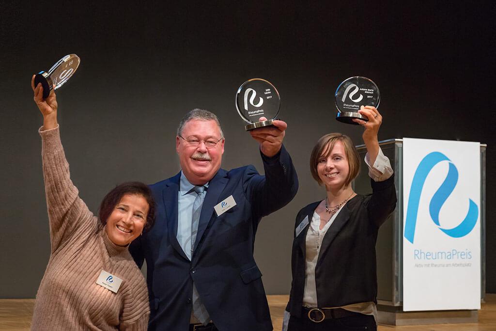Gewinner des Rheumapreises 2017.