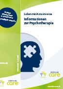 Titel der Broschüre Leben mit Acne inversa - Informationen zur Psychotherapie