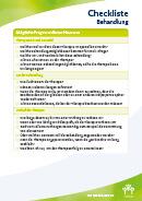 Titel der Broschüre Checkliste Behandlung