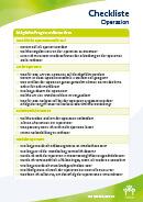 Titel der Broschüre Checkliste Operation