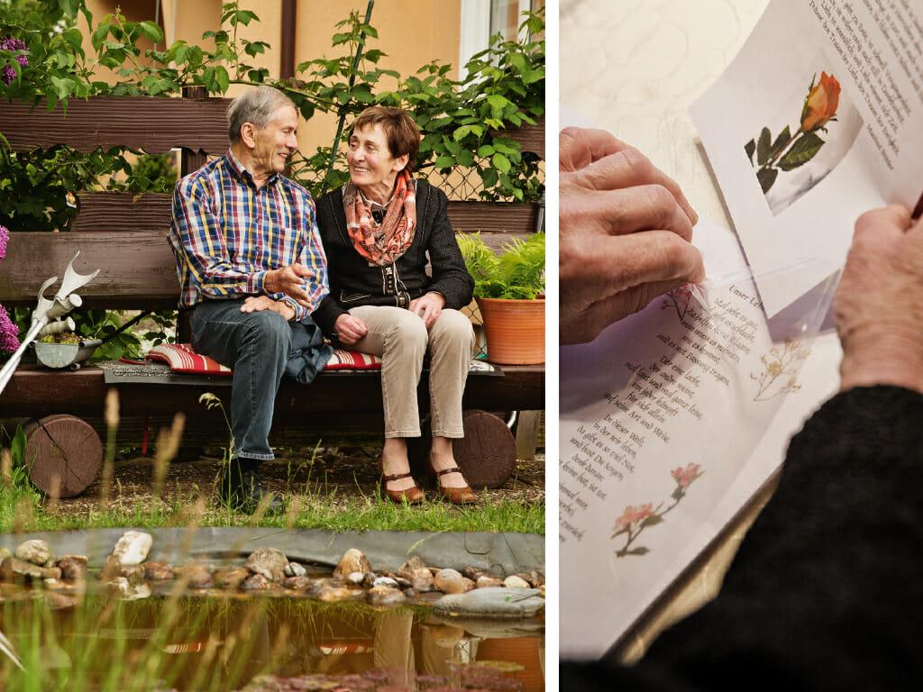 Die 73-jährige Edda Brandl geht mit viel positiver Energie durch ihren Alltag mit Parkinson
