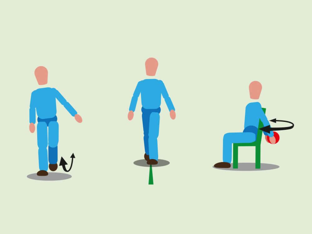 Bewegung schult das Gleichgewicht