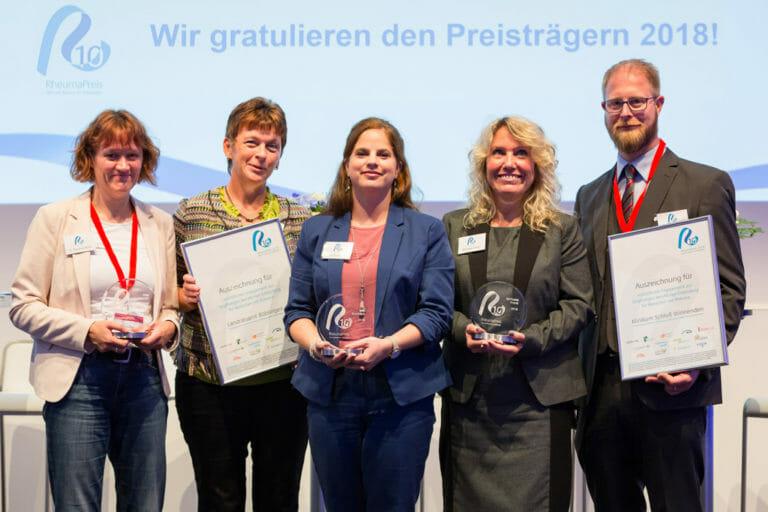Fünf Preisträger des Rheumapreises 2018