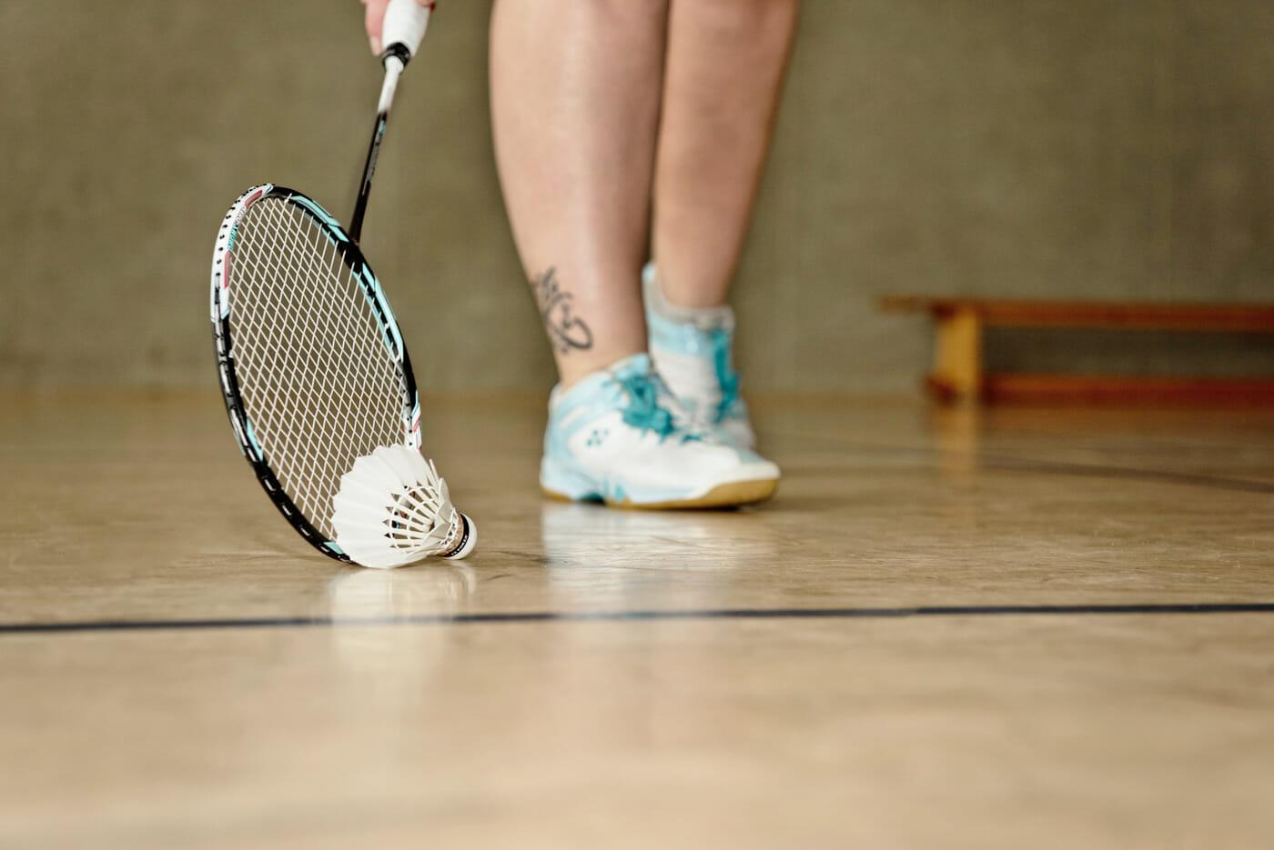 Inken beim Badminton spielen