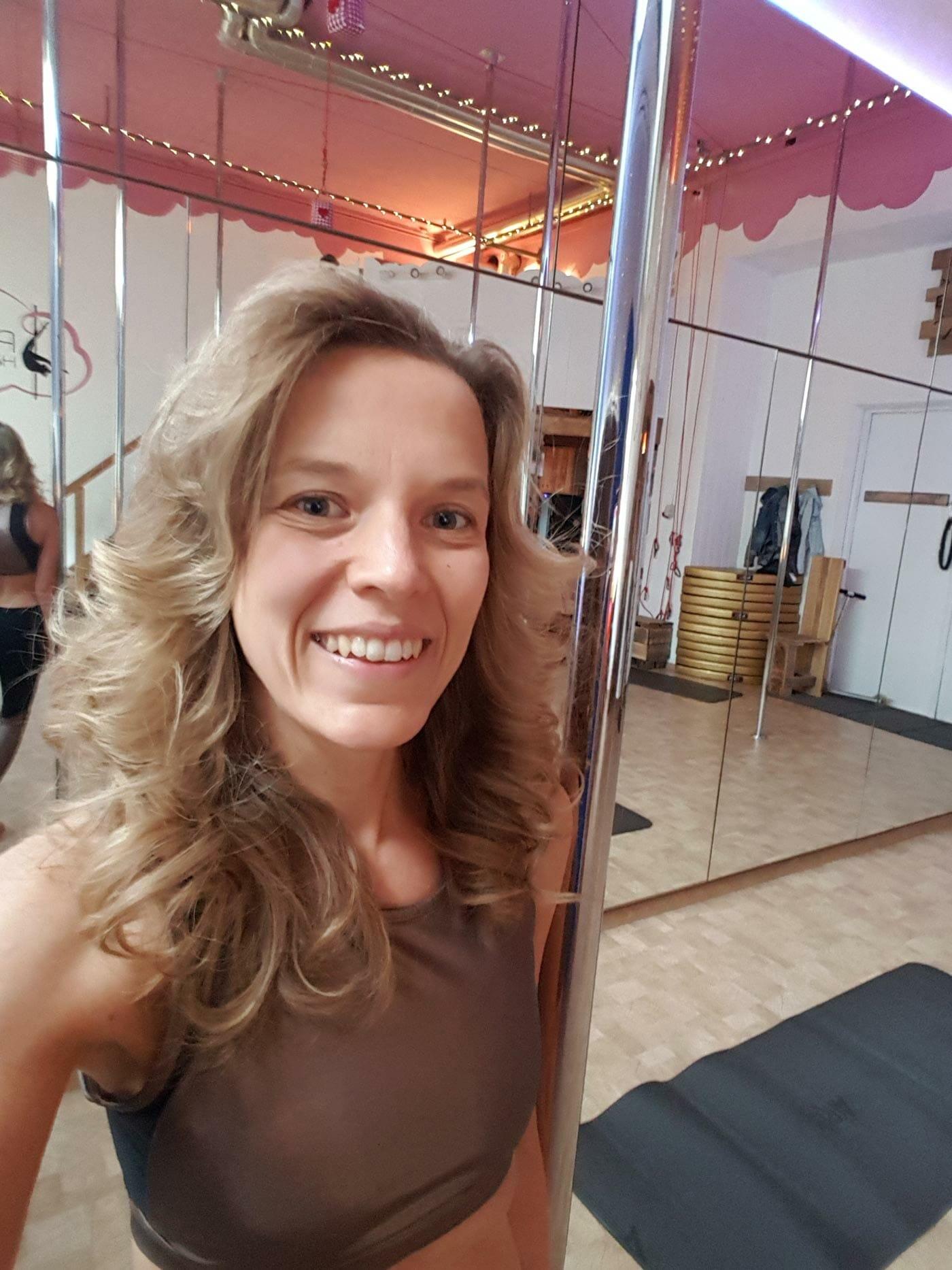 Selfie von Johanna im Tanzstudio