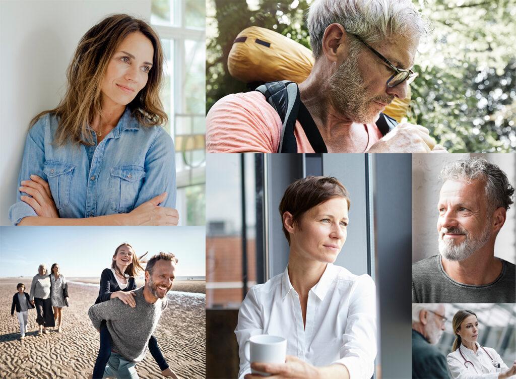 Menschen mit rheumatoider Arthritis in Alltagssituationen