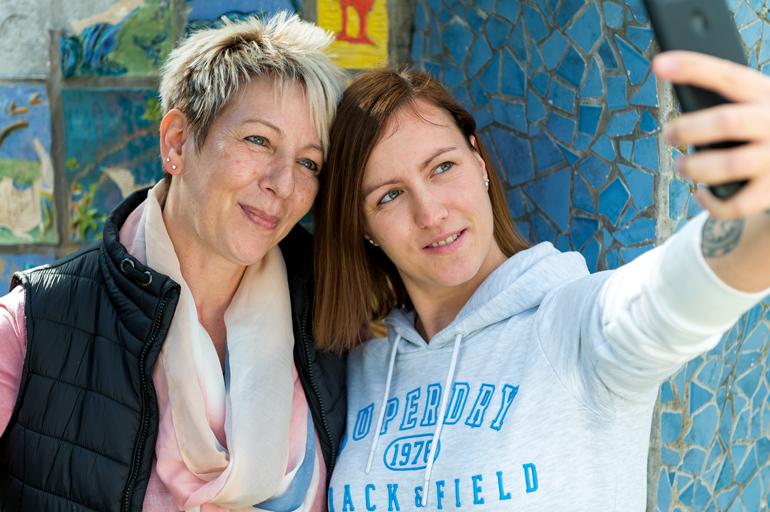 Sabine Selfie mit ihrer Tochter