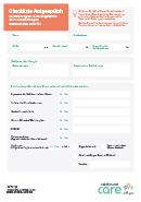 Titel der Broschüre Checkliste Arztgespräch: Folgetermin