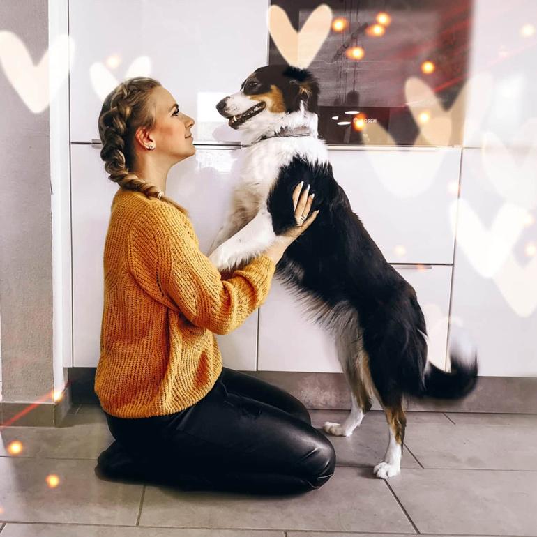 Nadja mit Hund